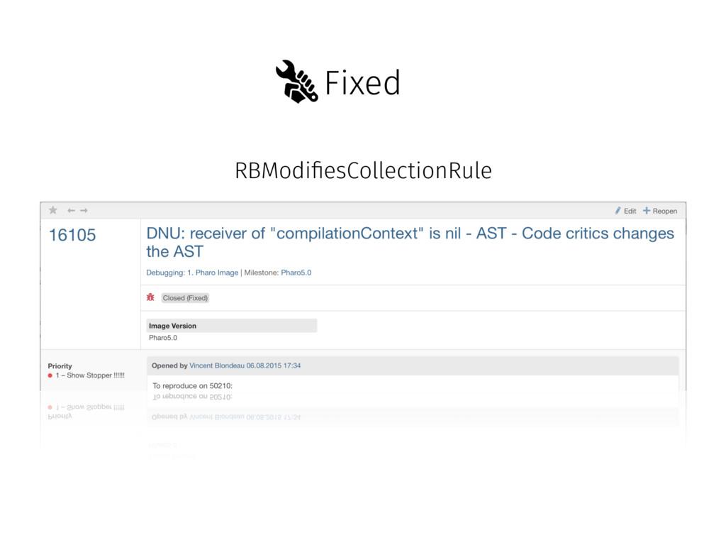 Fixed RBModi!esCollectionRule