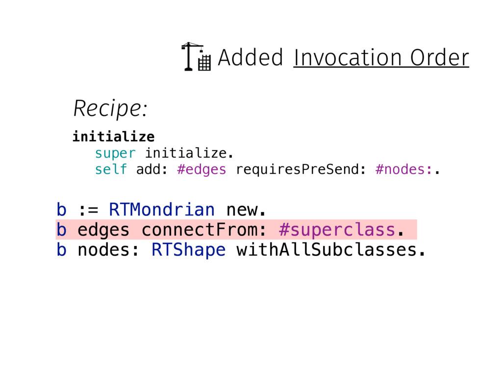 Added b := RTMondrian new. b edges connectFrom:...