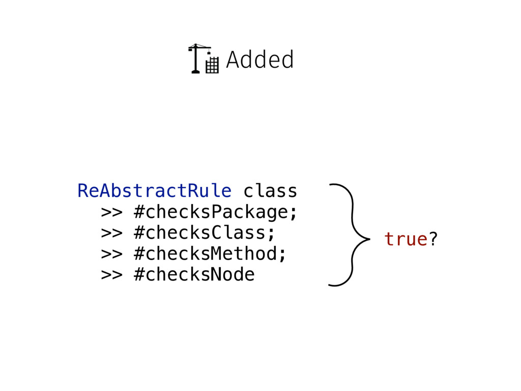 Added ReAbstractRule class >> #checksPackage; >...