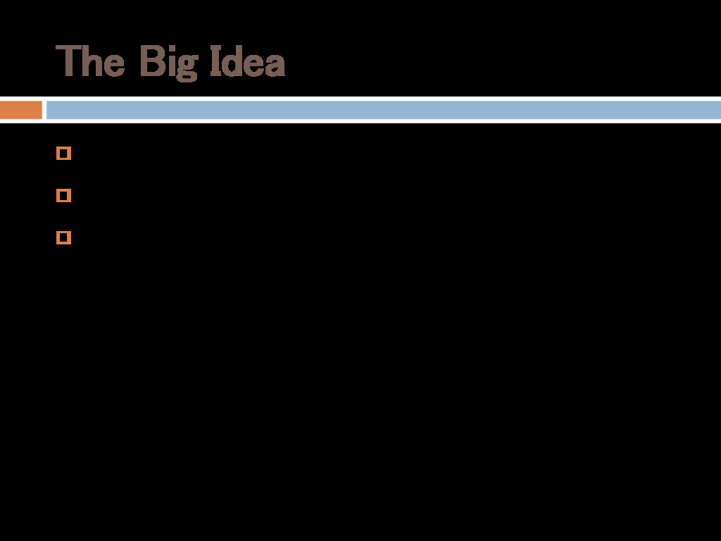 The Big Idea  $60 budget  1 week schedule  B...