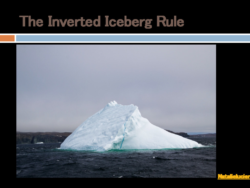 The Inverted Iceberg Rule Photo: Natalielucier ...