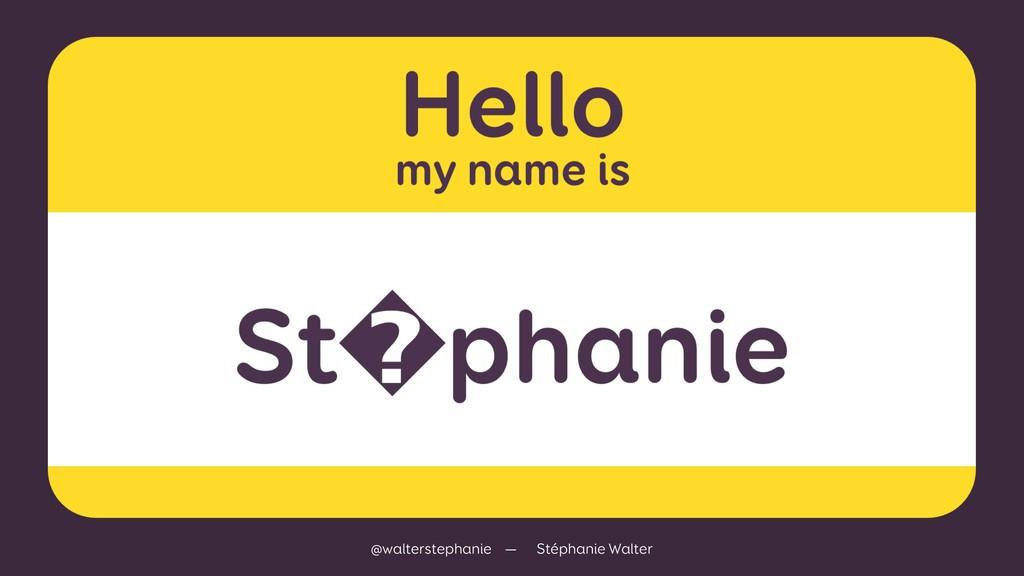@walterstephanie — Stéphanie Walter