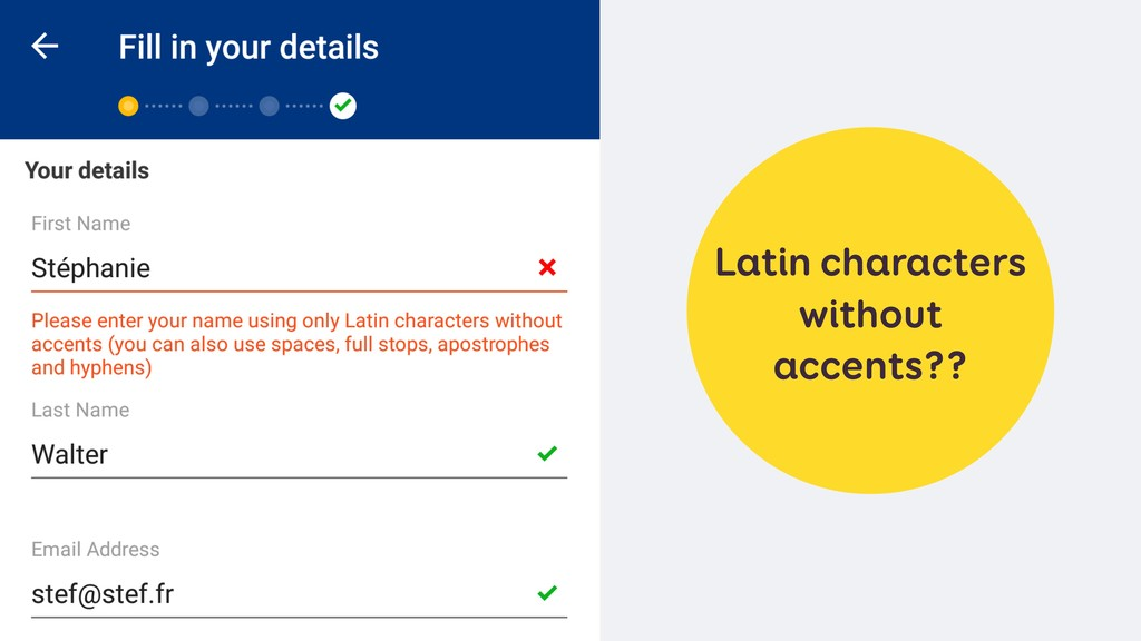 Latin characters without accents??