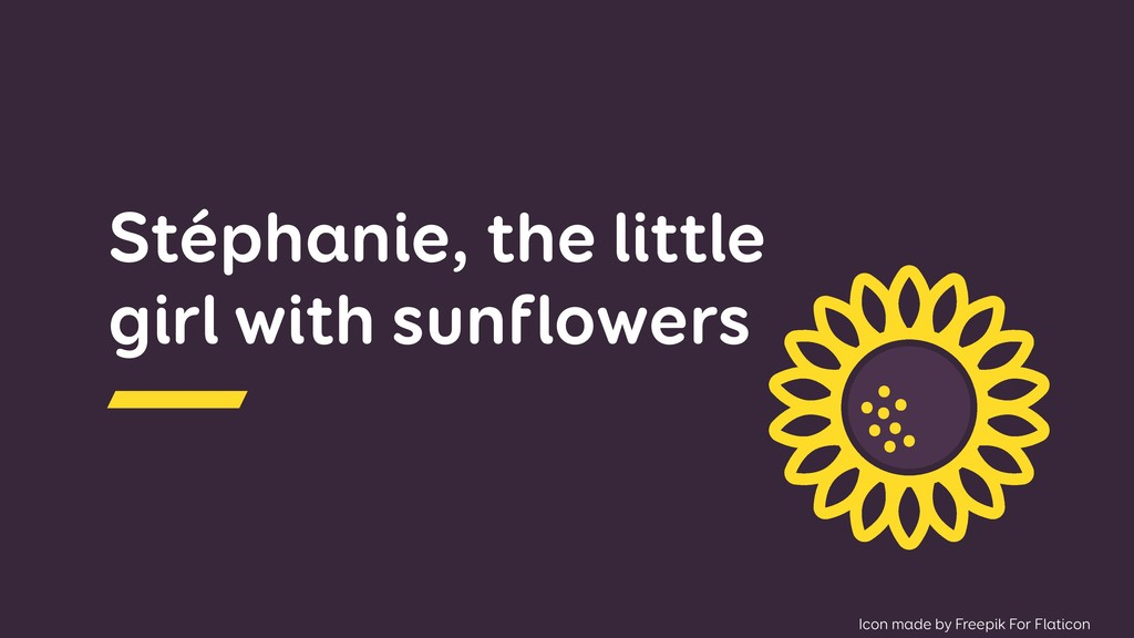 Stéphanie, the little girl with sunflowers Icon...
