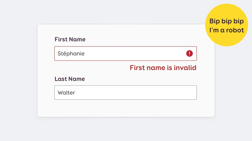 First name is invalid Last Name Walter First Na...