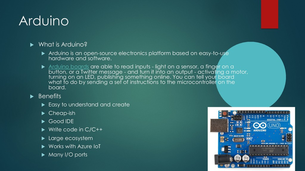 Arduino u What is Arduino? u Arduino is an open...
