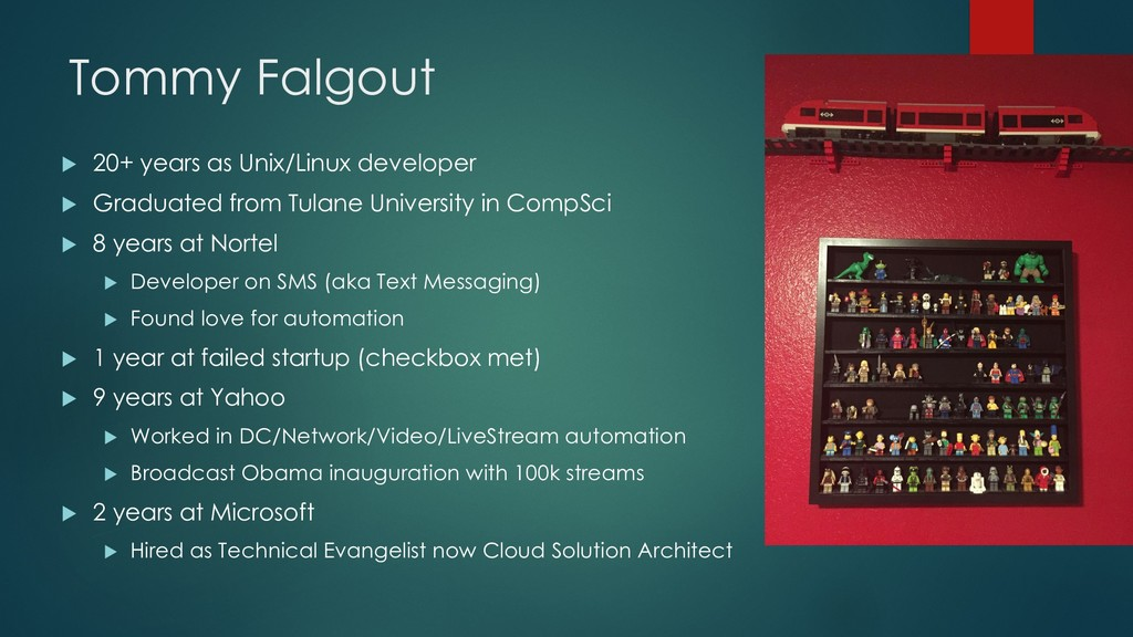 Tommy Falgout u 20+ years as Unix/Linux develop...