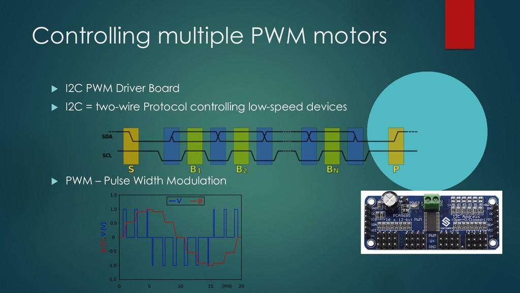Controlling multiple PWM motors u I2C PWM Drive...
