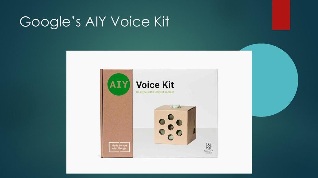 Google's AIY Voice Kit