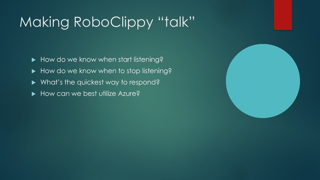 """Making RoboClippy """"talk"""" u How do we know when ..."""