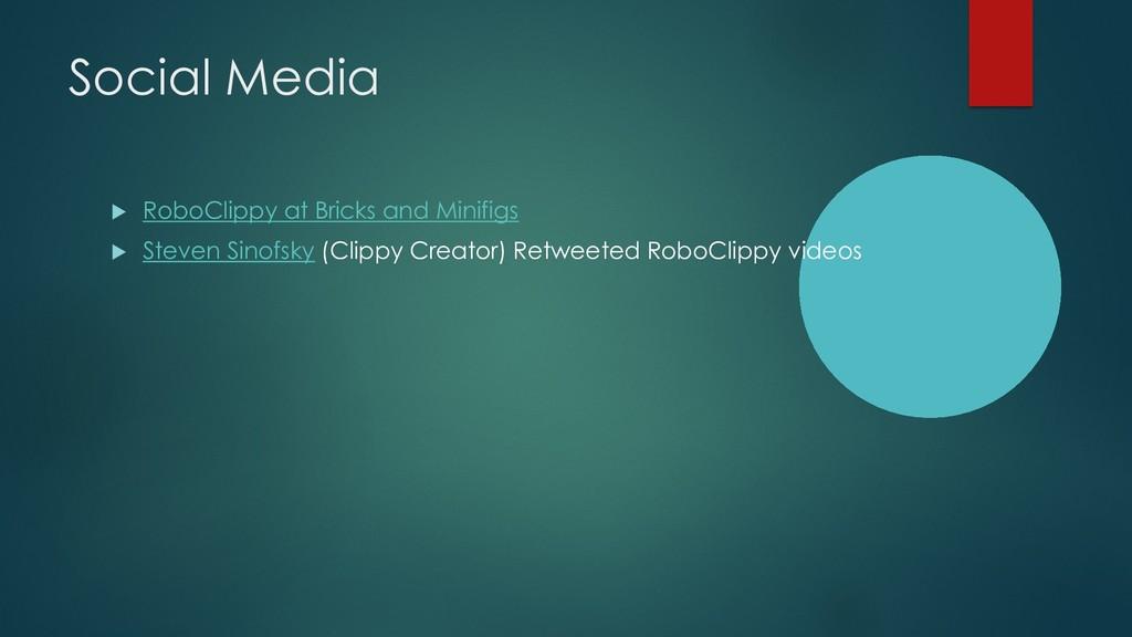 Social Media u RoboClippy at Bricks and Minifig...