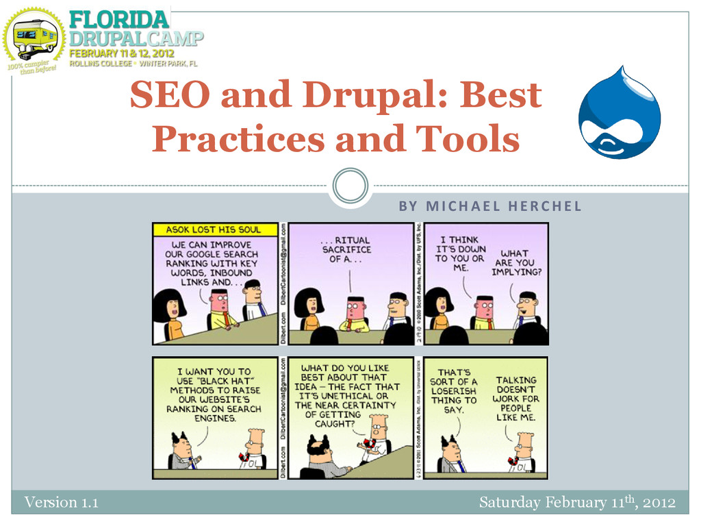 BY M I C H A E L H E R C H E L SEO and Drupal: ...