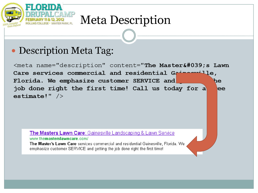 Meta Description  Description Meta Tag: <meta ...