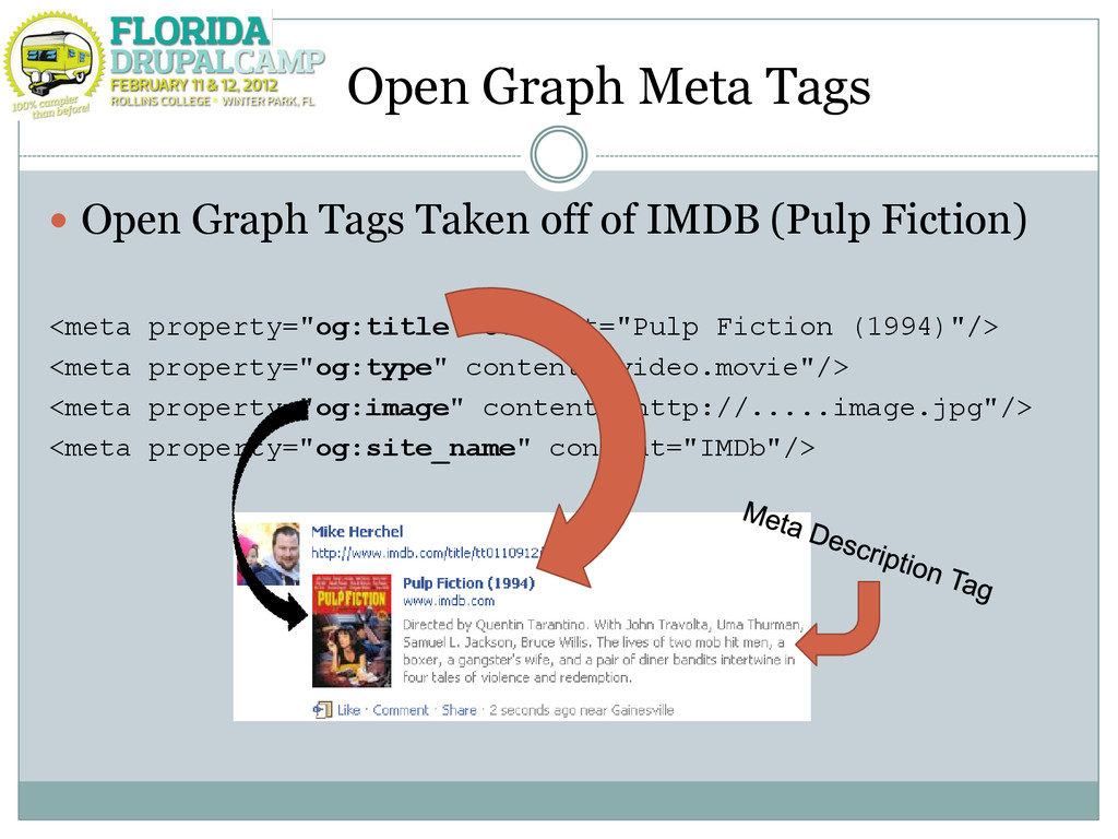 Open Graph Meta Tags  Open Graph Tags Taken of...