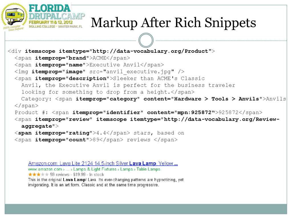 Markup After Rich Snippets <div itemscope itemt...