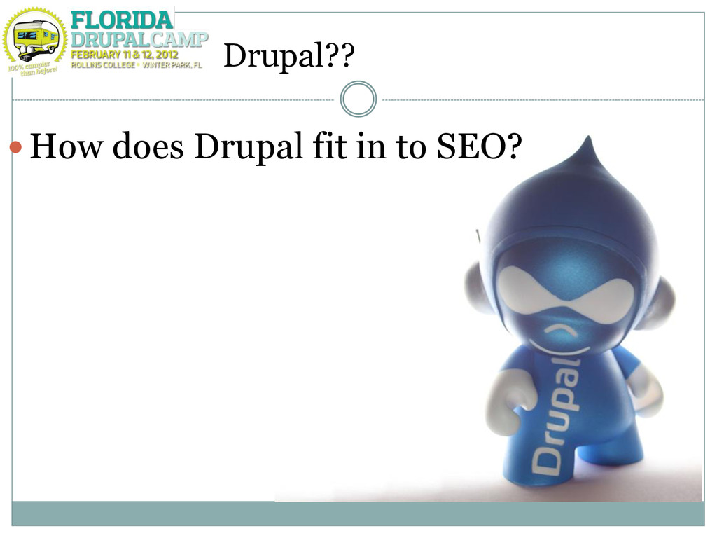 Drupal?? How does Drupal fit in to SEO?