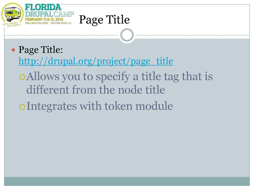 Page Title  Page Title: http://drupal.org/proj...