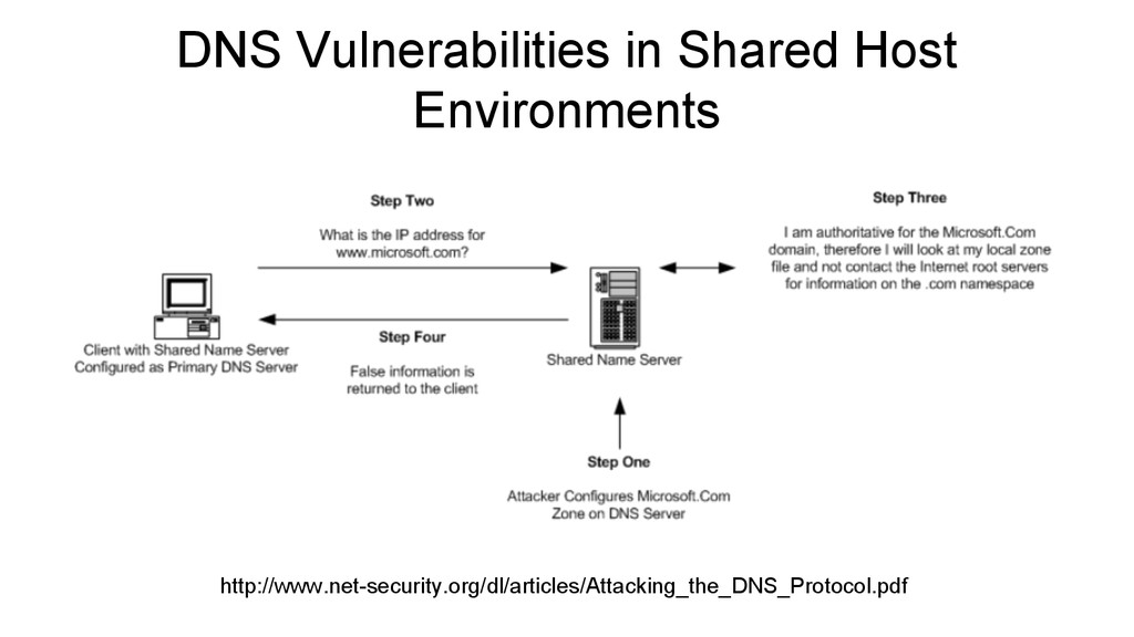 DNS Vulnerabilities in Shared Host Environments...
