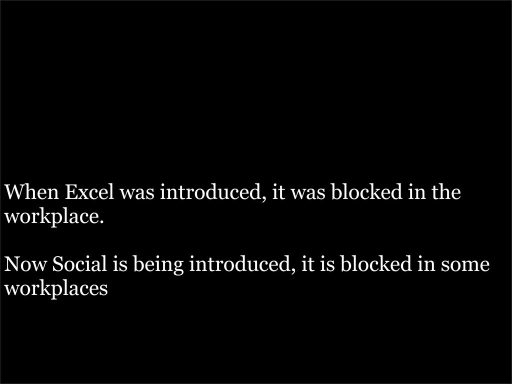 When Excel was introduced, it was blocked in th...