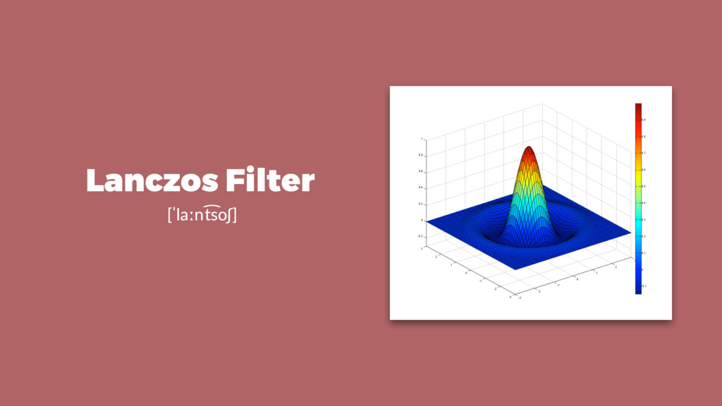 Lanczos Filter [ˈlaːnt͡soʃ]