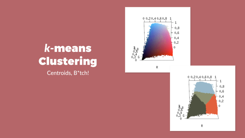 k-means Clustering Centroids, B*tch!