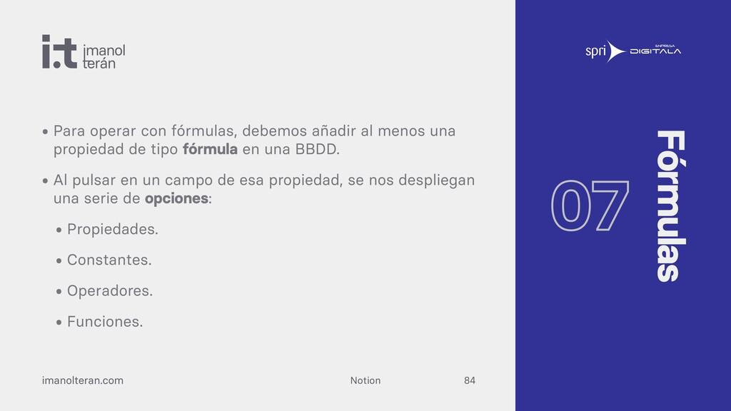 Notion imanolteran.com • Para operar con fórmul...
