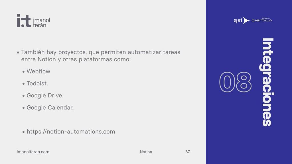 Notion imanolteran.com • Ahora mismo, Notion in...