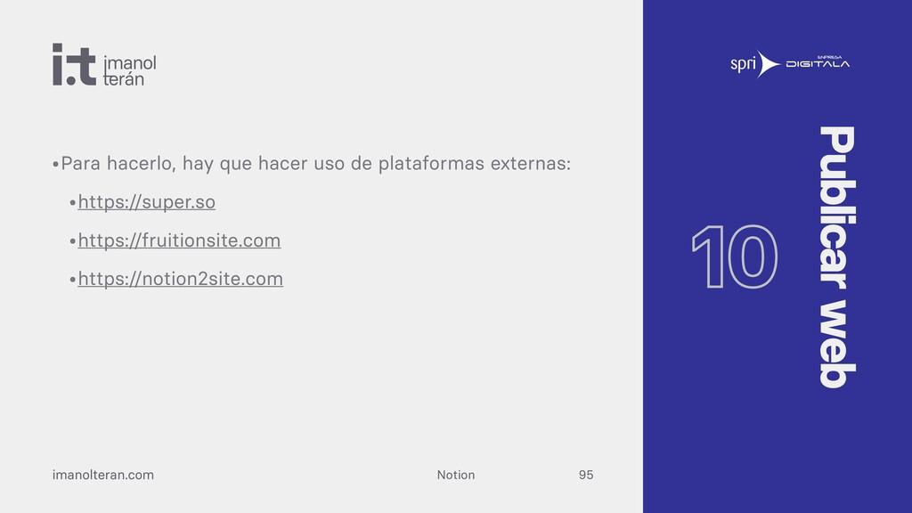 Notion imanolteran.com •Para muchos proyectos, ...
