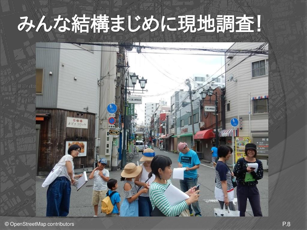 © OpenStreetMap contributors みんな結構まじめに現地調査! P.8