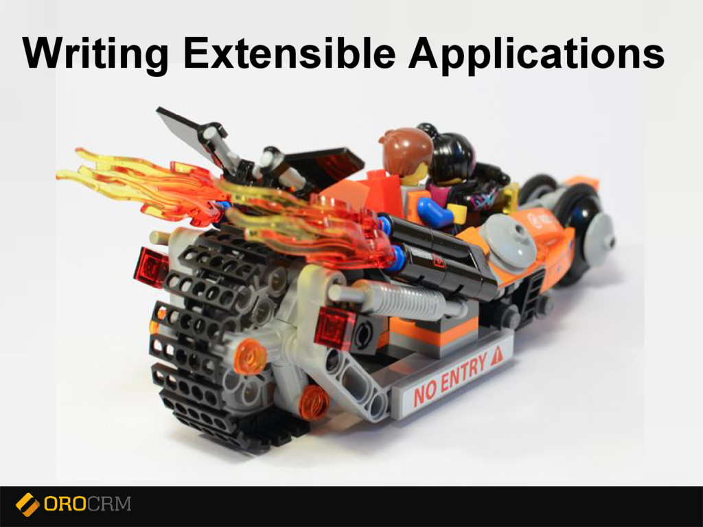 Presentation title here Writing Extensible Appl...