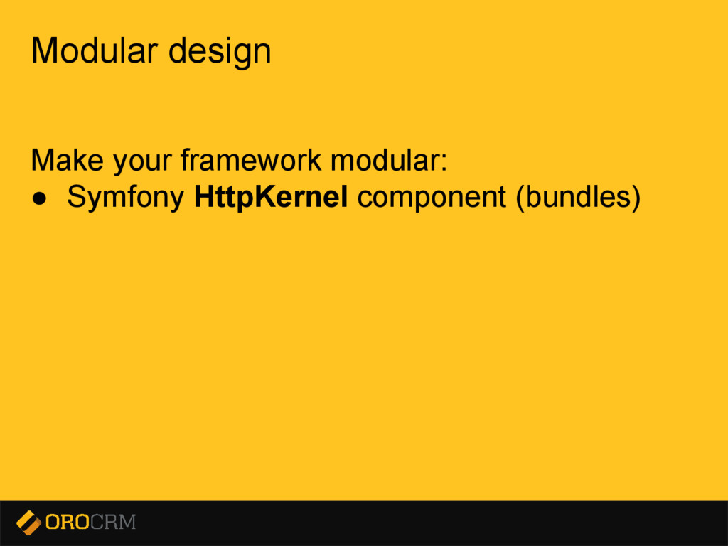 Presentation title here Modular design Make you...