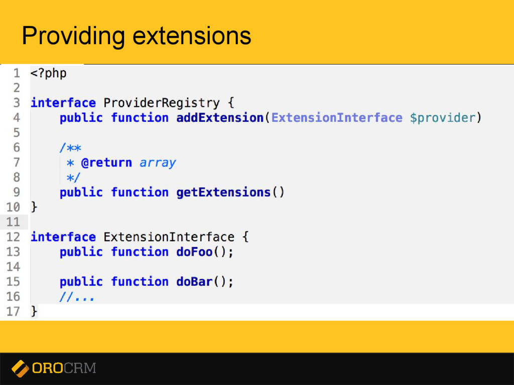 Presentation title here Providing extensions