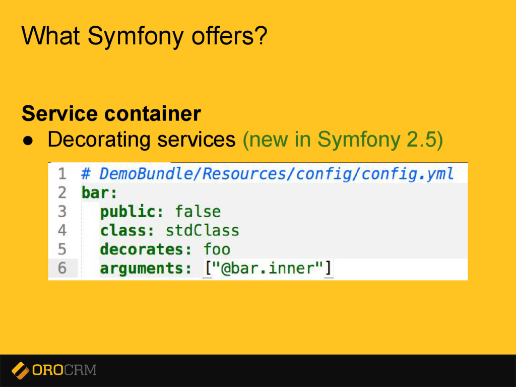 Presentation title here What Symfony offers? Se...