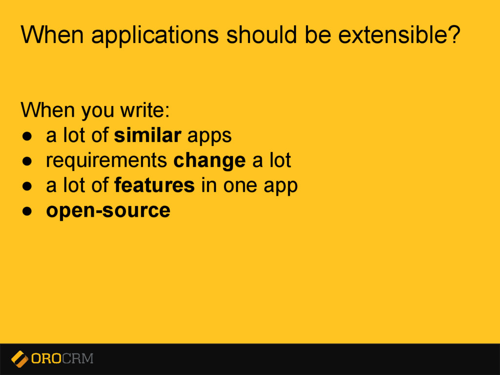 Presentation title here When applications shoul...