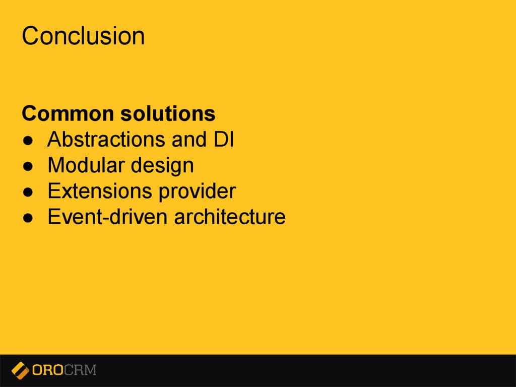 Presentation title here Conclusion Common solut...