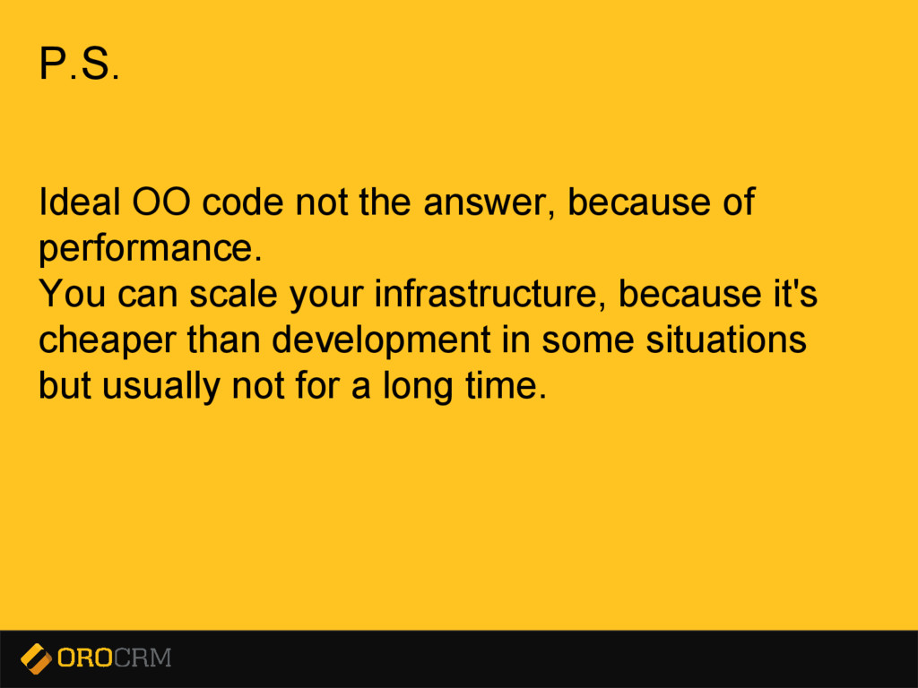 Presentation title here P.S. Ideal OO code not ...