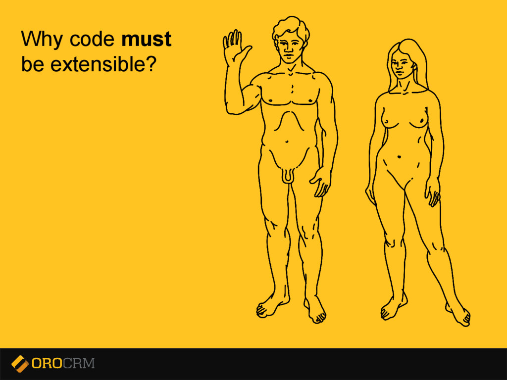 Presentation title here Why code must be extens...