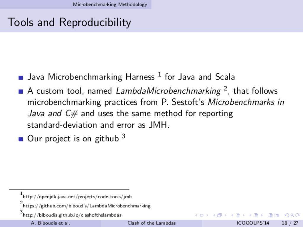 Microbenchmarking Methodology Tools and Reprodu...