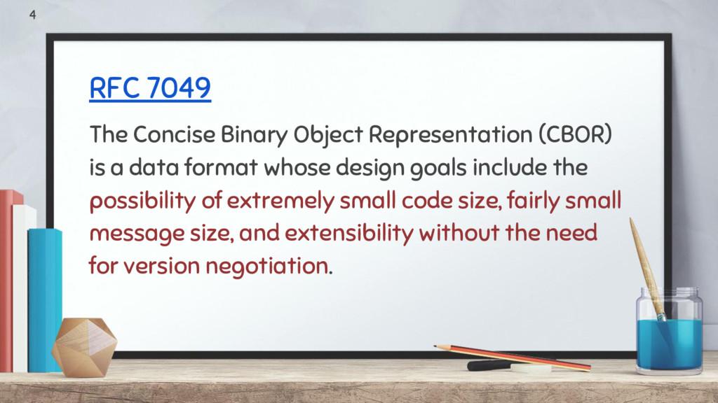 RFC 7049 The Concise Binary Object Representati...