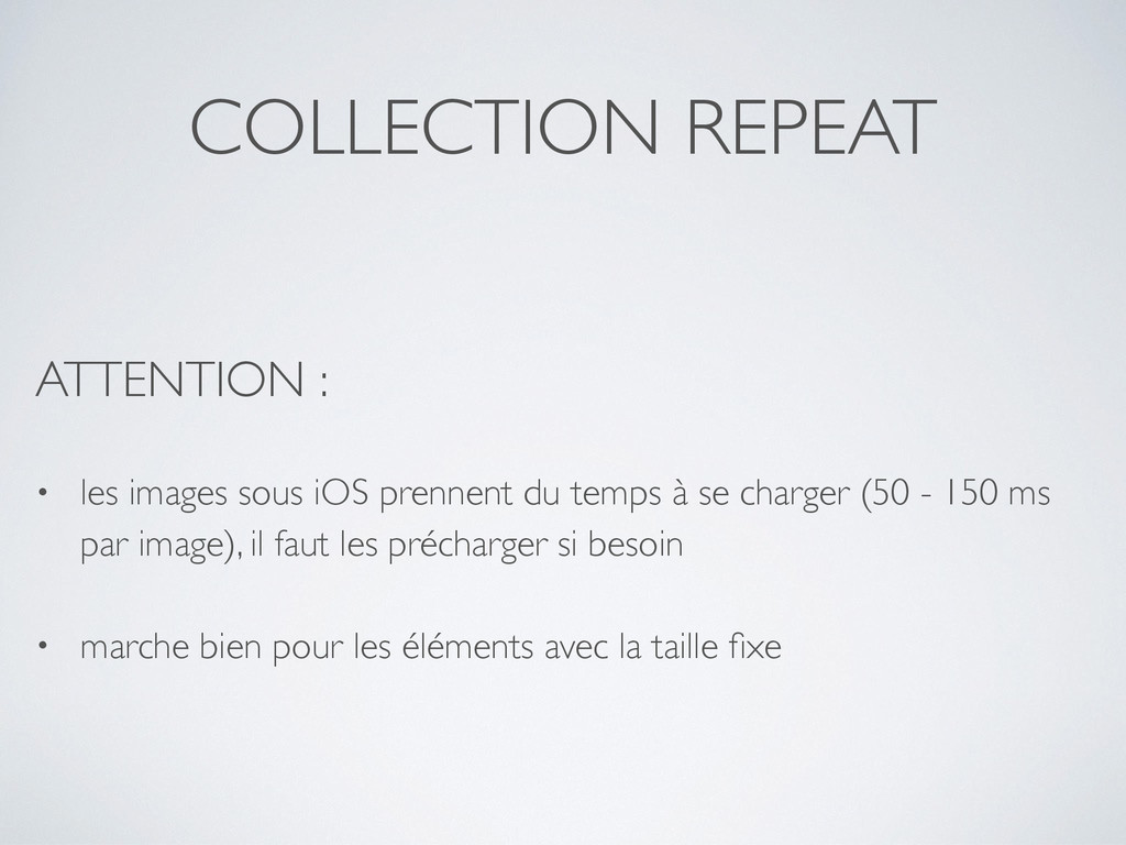 COLLECTION REPEAT ATTENTION : • les images sous...