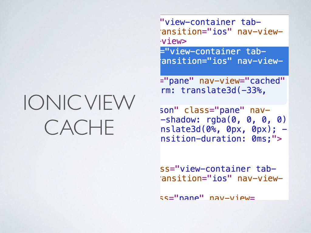 IONIC VIEW CACHE