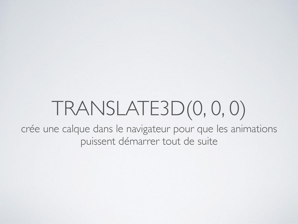 TRANSLATE3D(0, 0, 0) crée une calque dans le na...