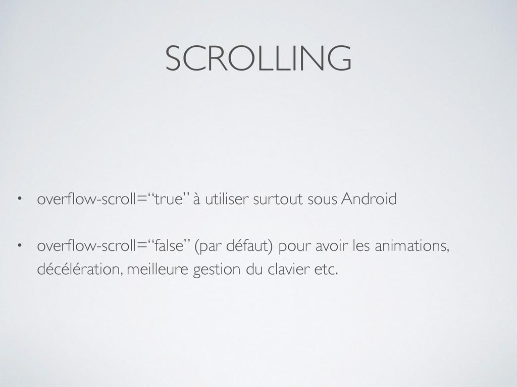 "SCROLLING • overflow-scroll=""true"" à utiliser su..."
