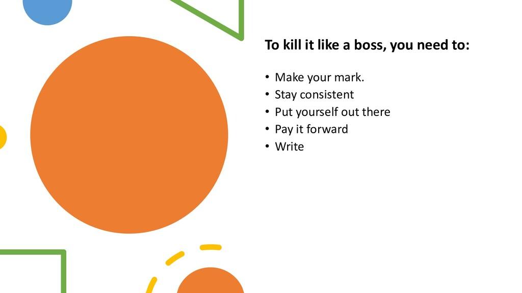 Interswitch - INTERNAL To kill it like a boss, ...