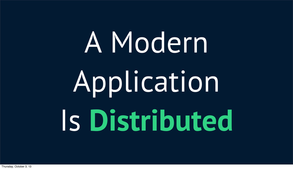 A Modern Application Is Distributed Thursday, O...