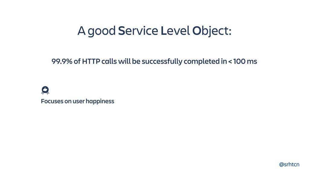 @srhtcn A good Service Level Object: 99.9% of H...