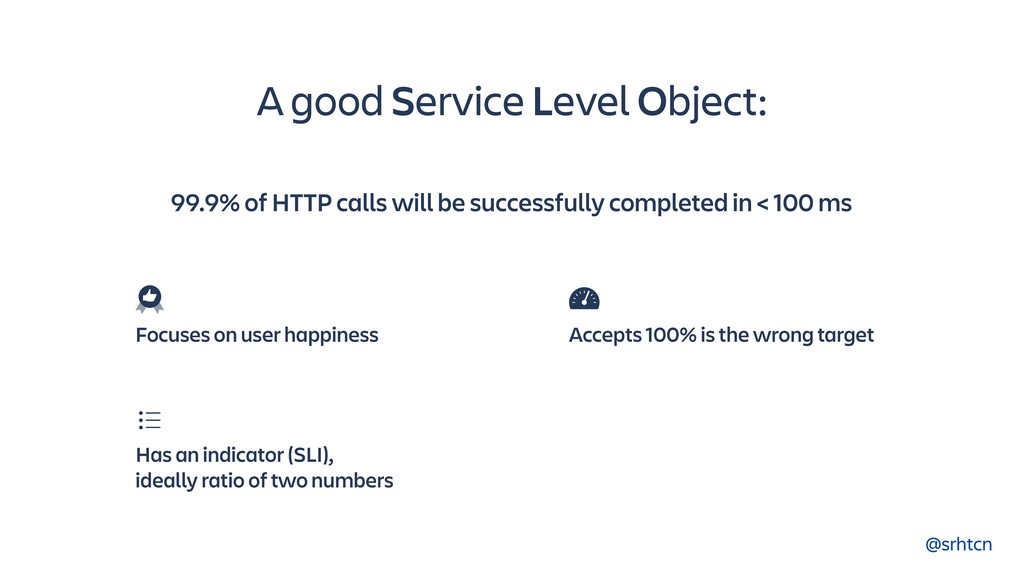 @srhtcn A good Service Level Object: Has an ind...