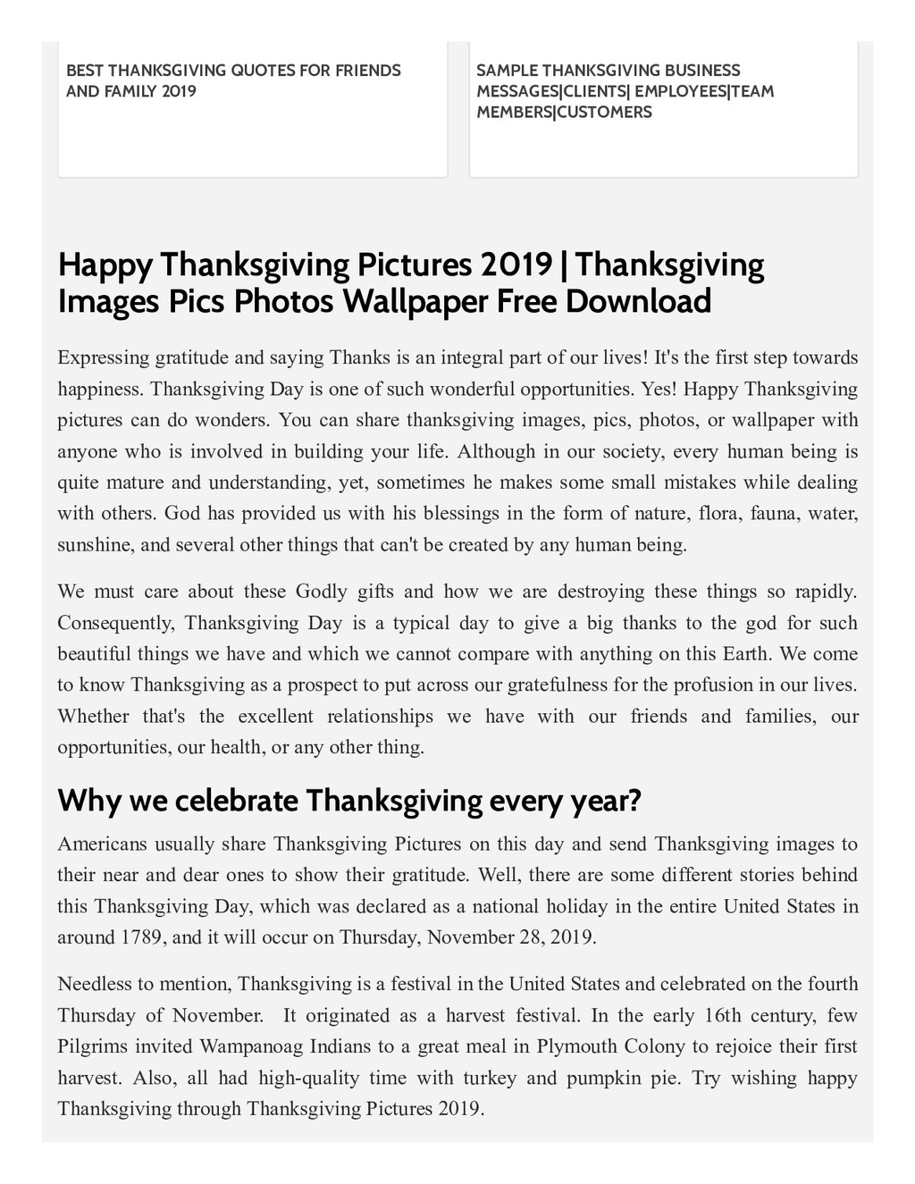 Happy Thanksgiving Pictures 2019 | Thanksgiving...