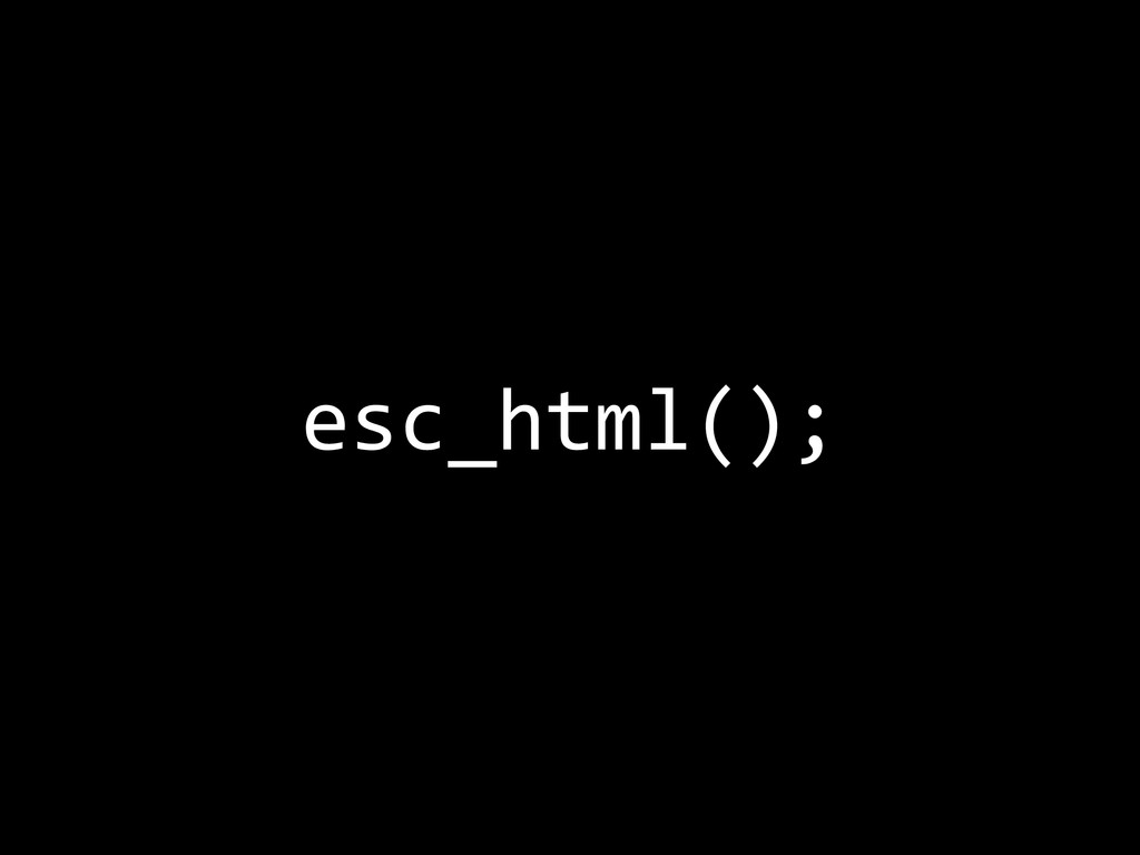 esc_html();