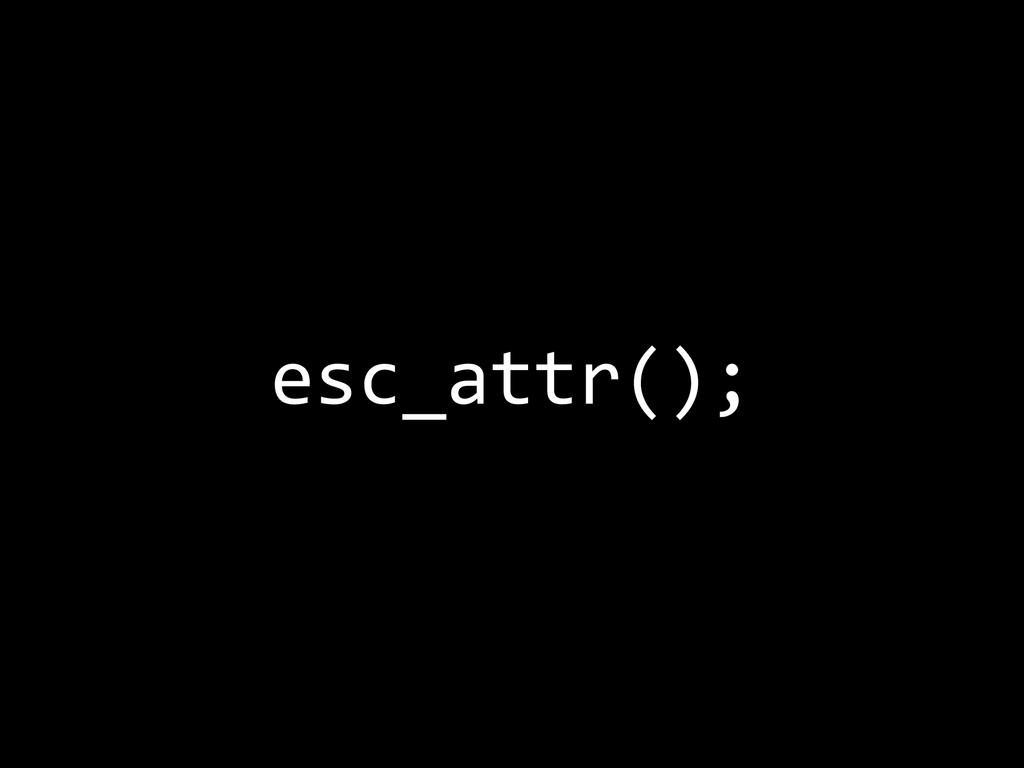 esc_attr();